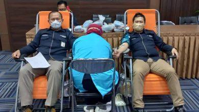 Photo of Donor Darah Perumdam Tirta Kencana Kota Samarinda, Hasilkan 36 Kantong